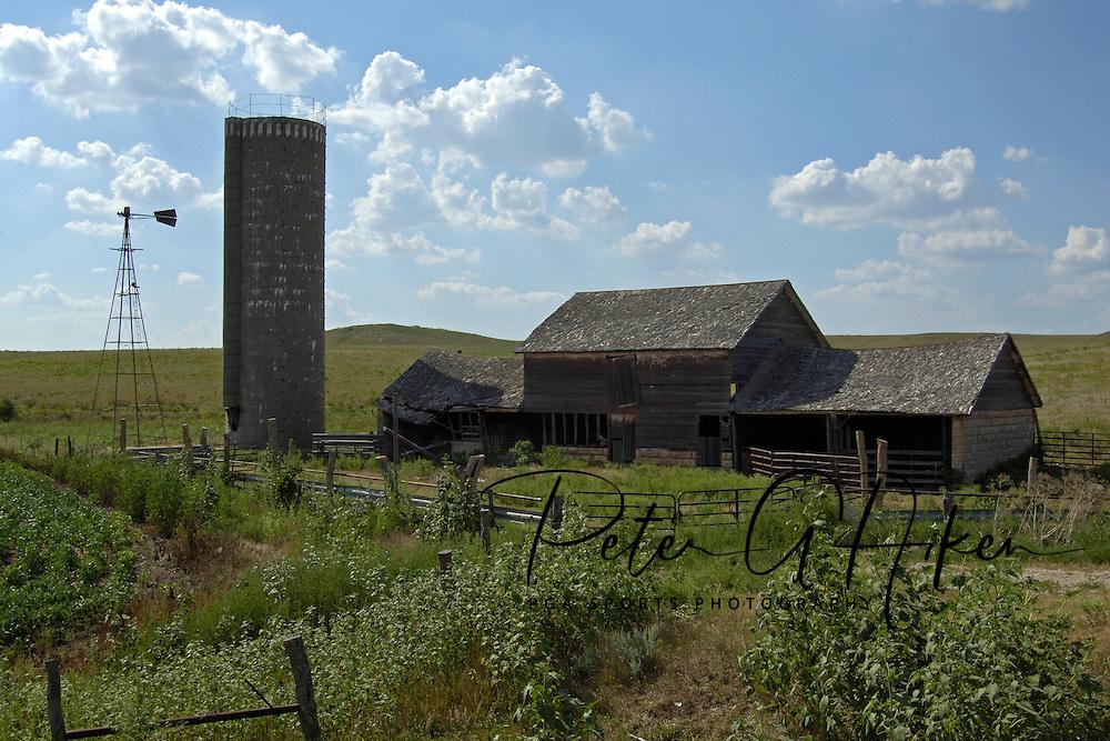 Hay barn in The Flint Hills of Kansas.