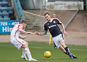 Dundee&rsquo;s Kevin Holt runs at Ross County&rsquo;s Jonathan Franks - Dundee v Ross County - Ladbrokes Premiership at Dens Park<br /> <br />  - &copy; David Young - www.davidyoungphoto.co.uk - email: davidyoungphoto@gmail.com