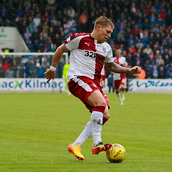 Martyn Waghorn gets free on the wing and heads for the goalline