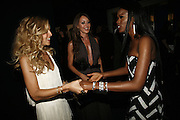 Rachel, Tamara Mellon and June Sarpong, Emporio Armani Red One Night Only. Brompton Hall, Earls Court. London. 21 September 2006.  . ONE TIME USE ONLY - DO NOT ARCHIVE  © Copyright Photograph by Dafydd Jones 66 Stockwell Park Rd. London SW9 0DA Tel 020 7733 0108 www.dafjones.com