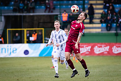 Tom Zurga of NK Triglav Kranj and Zan Karnicnik of NS Mura during football match between NŠ Mura and NK Triglav in 19th Round of Prva liga Telekom Slovenije 2018/19, on December 9, 2018 in Fazanerija, Murska Sobota, Slovenia. Photo by Blaž Weindorfer / Sportida