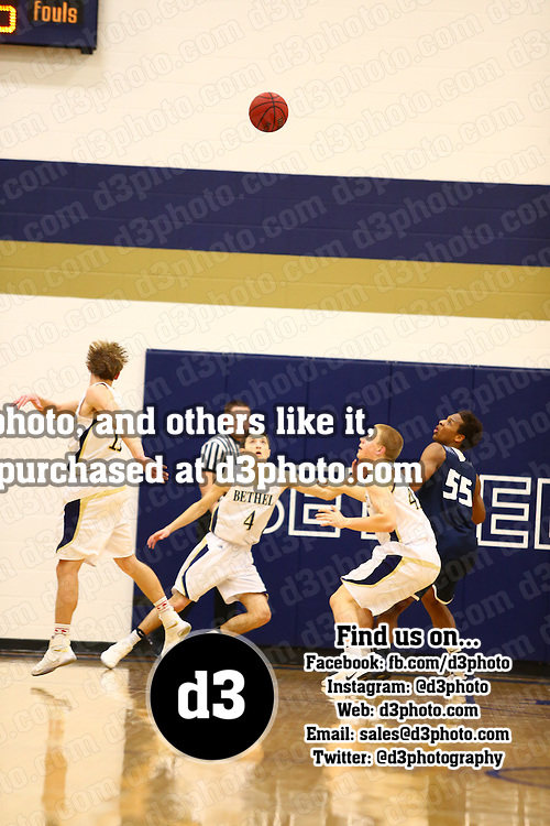 Bethel University defeated Carleton College 57-53 in a semifinal matchup of the MIAC Men's Basketball tournament on Thursday, February 23, 2017 in the Robertson Center on the Bethel campus in Arden Hills, Minnesota.