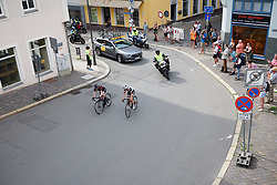 Lucinda Brand (NED) and Alice Barnes (GBR) in a late escape at Lotto Thuringen Ladies Tour 2018 - Stage 4, a 118 km road race starting and finishing in Gera, Germany on May 31, 2018. Photo by Sean Robinson/Velofocus.com