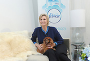 Jane Lynch and Instagram star and rescue dog Toast Meets World partner with Febreze to promote pet adoption and educate pet owners about getting their homes guest-ready with Febreze products that are on the ASPCA Pet Friendly Living product list, Wednesday, Feb. 25, 2015, in New York.   (Photo by Diane Bondareff/Invision for Febreze/AP Images)