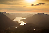 Loch Etive at sunset from Buachallie Etive Beag, Glen Etive, Scotland
