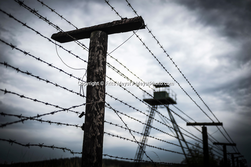 Cisov, Moravia, Czech Republic, September 2015. Čížov is a small village lying about 8 kilometres to the east of Vranov. The Visitors Centre of the Podyjí National Park Administration with a permanent exposition about the Park's nature, also the visitors can see the only preserved part of a wire fence of the Iron Curtain. Čížov is the ideal starting point for excursions to both parts of the NP on either the Czech or the Austrian side of the Dyje River. Southern Moravia is most famous for its wine,  rolling hills and pretty landscapes. Photo by Frits Meyst / MeystPhoto.com