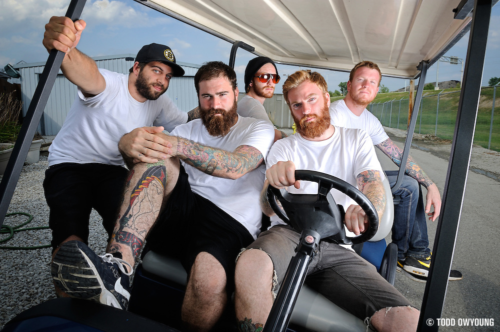 Four Year Strong photographed backstage on Warped Tour, July 5, 2010
