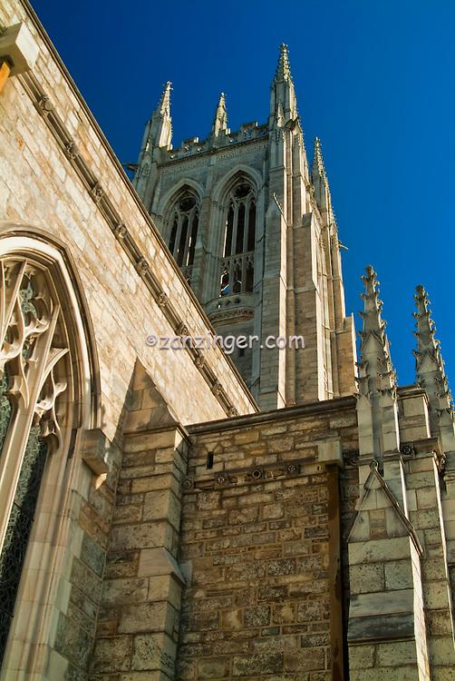 Bryn Athyn Church, New Church, Cathedral, Pennypack Creek Valley, Bryn Athyn, Pennsylvania, PA High dynamic range imaging (HDRI or HDR)