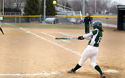 30 March 2013:  Jessica Toth during an NCAA Division III women's softball game between the DePauw Tigers and the Illinois Wesleyan Titans in Bloomington IL