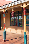 Shops along the Old Town Plaza December 14, 2015 in Albuquerque, New Mexico.