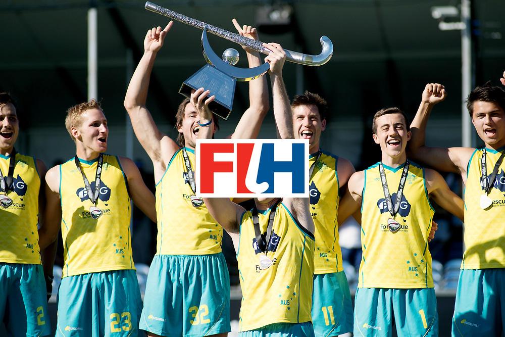 BREDA - Rabobank Hockey Champions Trophy<br /> Final Australia - India<br /> Australia won after shoot outs.<br /> Photo: Aran Zalewski with the trophy.<br /> COPYRIGHT WORLDSPORTPICS FRANK UIJLENBROEK
