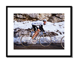 Stephen Roche,<br /> Paris-Nice 1987<br /> <br /> This was to be Roche's best year as a professional. He won the Giro, Tour and World Championships. He started the year well at Paris-Nice but despite winning the final time trial, overall victory again went to Sean Kelly.