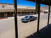 09 JULY 2005 - KEARNY, AZ: The main street, lined with abandoned buildings, in Kearny, AZ, during a strike against Asarco. Workers are claiming Asarco, now owned by Mexican conglomerate Grupo Mexico, is not bargaining in good faith.    PHOTO BY JACK KURTZ