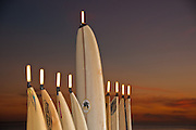 Lighted Menorrah Surfboards