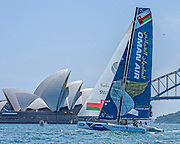 10.12.2015. Farm Cove, Sydney, Australia. Extreme Sailing Act 8. Media Day. Oman Air (OMA)  practice races In Farm Cove, Sydney, Australia. Oman Air (OMA)  will sail in the final Act of the 2015 Extreme Sailing Series in Sydney  from 11-13th December 2015.