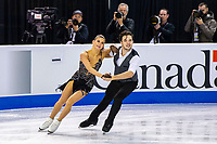 KELOWNA, BC - OCTOBER 25:  Russian ice dancers Sofia Evdokimova and Egor Bazin perform during the rhythm dance of Skate Canada International held at Prospera Place on October 25, 2019 in Kelowna, Canada. (Photo by Marissa Baecker/Shoot the Breeze)
