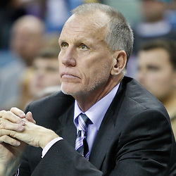 January 3, 2011; New Orleans, LA, USA; Philadelphia 76ers head coach Doug Collins aNew Orleans Hornets during the fourth quarter at the New Orleans Arena. The Hornets defeated the 76ers 84-77.  Mandatory Credit: Derick E. Hingle