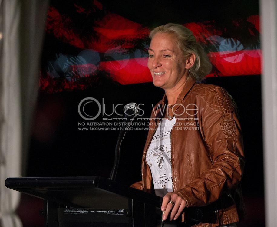Barbara Rittner (GER), April 17, 2014 - TENNIS : Federation Cup, Semi-Final, Australia v Germany, Official Dinner, Stamford Plaza Hotel, Brisbane, Victoria, Australia. Credit: Lucas Wroe