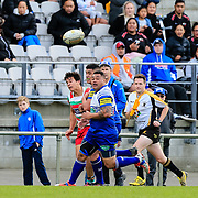 Action during the rugby union game played between Northern United v HOBM , on 28 July 2018, at Jerry Collins Stadium, Porirua, New  Zealand.   Norths won 41-26.