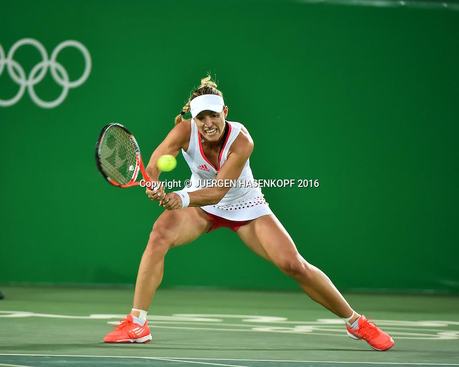 ANGELIQUE KERBER (GER), Olympiade 2016<br /> <br /> Tennis - Olympic Games 2016 - ITF  -   Olympic Tennis Centre - Rio De Janeiro -  - Brasilien  - 13 August 2016.