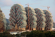 SANYA, CHINA - FEBRUARY 18: (CHINA OUT)<br /> <br /> Sanya Beauty Crown 7-Star Hotel Sets World Record<br /> <br />  A general view of Sanya Beauty Crown 7-Star Hotel on February 18, 2014 in Sanya, Hainan Province of China. Sanyas Beauty Crown 7-star Hotel has been awarded the China Records Certificate for having the most hotel rooms in the world. The whole construction covers an area of 500 acres with the building area of 600 thousand square meters, and it offers a total of 6,668 hotel rooms. (<br /> ©Exclusivepix