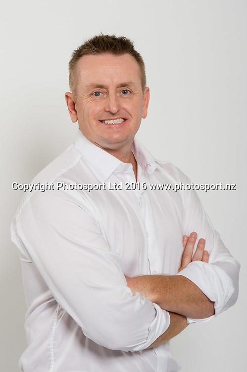Scott Styris. Sky Presenters headshots. Christchurch, New Zealand, 16th November 2016. © Copyright Photo: John Davidson / www.photosport.nz