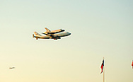 2012-09-20_Endeavor Space Shuttle is flown over downtown Austin on the way to its' final destination in California.