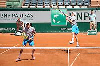 Mike BRYAN / Bob BRYAN  - 04.06.2015 - Jour 12 - Roland Garros 2015<br /> Photo : Nolwenn Le Gouic / Icon Sport