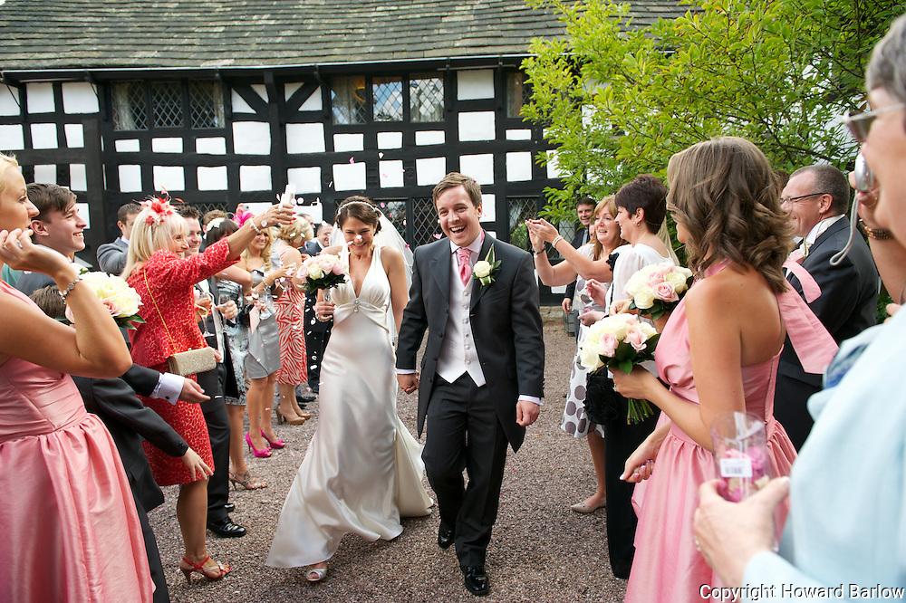STEVEN PAYNE &amp; KATIE GEE wedding at Davenport Green Hall, Hale, Cheshire.<br /> Sept 9 2011 Photo &copy; Howard Barlow