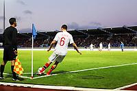 Fotball , 7. september 2012 , VM-kvalifisering , Island - Norge 2-0<br /> <br /> John Arne Riise slår corner med venstre benet, beinet , illustrasjon , corner , hjørnespark<br /> Iceland - Norway