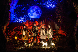 Actors dressed as shepherds perform during the Living Nativity Scenes inside Postojna Cave, on December 21, 2017 in Postojna, Slovenia. Living Nativity Scene is staged along a 5 km long path through the world-famous Postojna Cave in Slovenia with some 200 people performing and working. Photo by Vid Ponikvar / Sportida