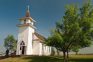 Big Horn County Historical Museum, Christ Evangelical Church built by German settlers in 1917, Hardin, Montana
