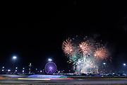 January 24-28, 2018. IMSA Weathertech Series ROLEX Daytona 24. Fireworks during the Daytona 24