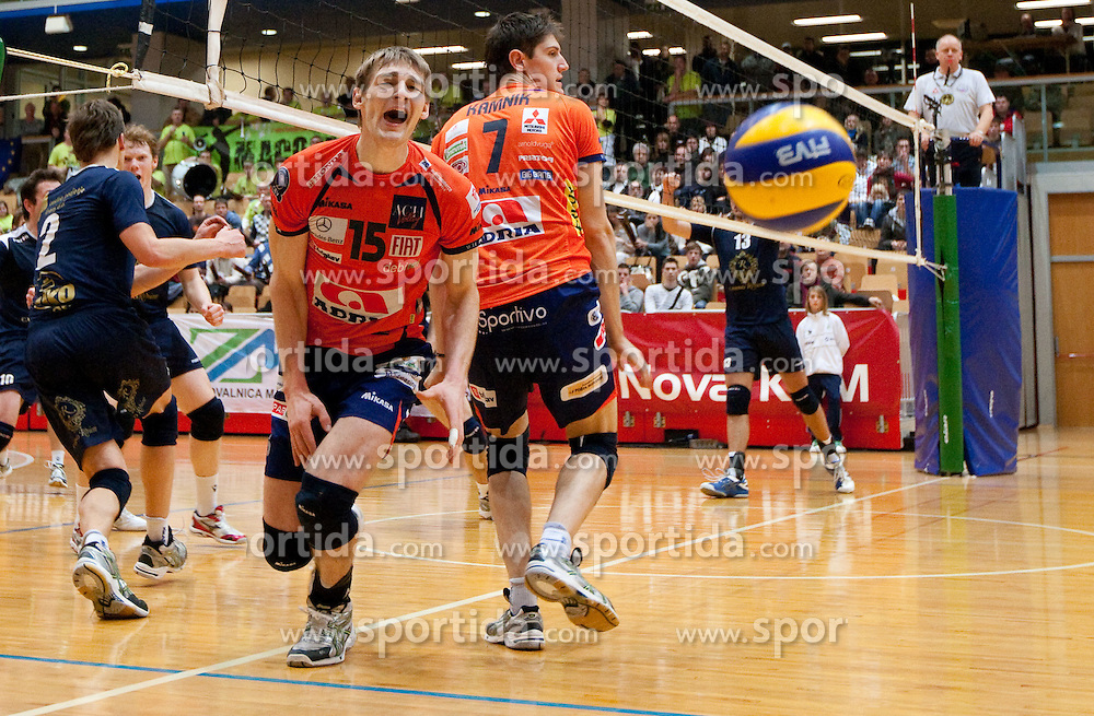 Vid Jakopin of ACH during volleyball match between ACH Volley and UKO Kropa at Finals of Slovenian Cup 2010, on December 21, 2010 in Dvorana OS, Nova Gorica, Slovenia. ACH Volley defeated Kropa 3-0 and become Slovenian Cup Champion. (Photo By Vid Ponikvar / Sportida.com)