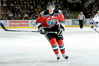 KELOWNA, CANADA, OCTOBER 22:  Damon Severson #7 of the Kelowna Rockets skates on the ice as the Victoria Royals visited the Kelowna Rockets on October 22, 2011 at Prospera Place in Kelowna, British Columbia, Canada (Photo by Marissa Baecker/shootthebreeze.ca) *** Local Caption ***Damon Severson;