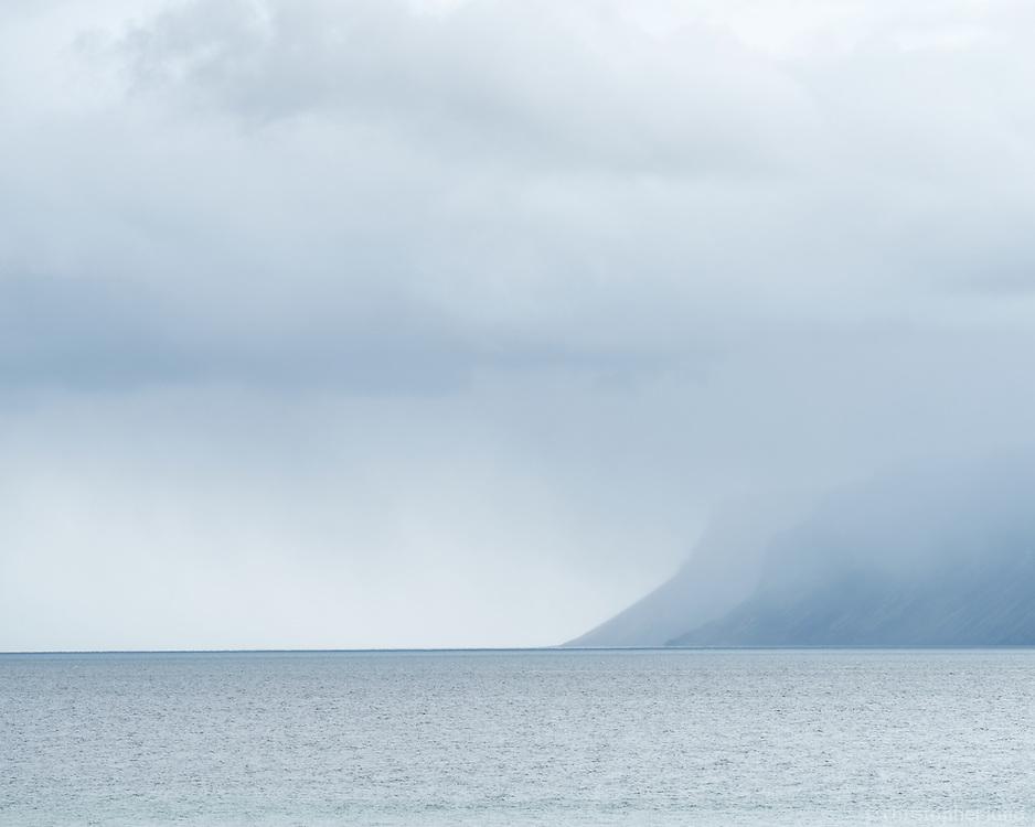 View over Patreksfjörður from Örlygshöfn, West fiords of Iceland.