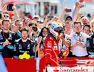 Sebastian Vettel of Scuderia Ferrari takes second place in the Spanish Formula One Grand Prix at Circuit de Catalunya, Barcelona<br /> Picture by EXPA Pictures/Focus Images Ltd 07814482222<br /> 14/05/2017<br /> *** UK &amp; IRELAND ONLY ***<br /> <br /> EXPA-EIB-170514-0106.jpg
