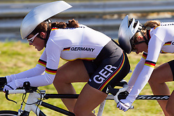 Henrike Handrup and Ellen Heiny of Germany compete during Women's Individual B Time Trial during Day 8 of the Summer Paralympic Games London 2012 on September 5, 2012, in Brands Hatch circuit near London, Great Britain. (Photo by Vid Ponikvar / Sportida.com)