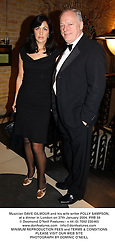 Musician DAVE GILMOUR and his wife writer POLLY SAMPSON, at a dinner in London on 27th January 2004.PRB 59