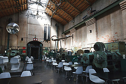 © Licensed to London News Pictures. 01/12/2013. London, UK. Image date: 28 August 2012. A general view of the interior of the Wapping Project restaurant (formerly the Wapping Hydraulic Power Station). The Wapping Project restaurant and art space will close at the end of 2013. Photo credit : Vickie Flores/LNP