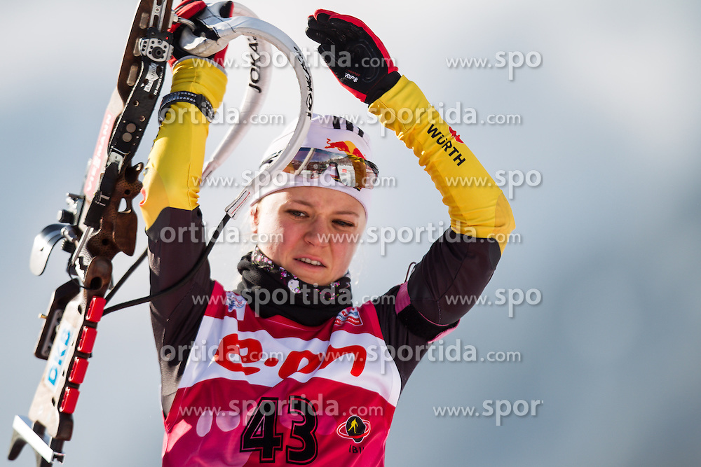 17.01.2013, Suedtirol Arena, Antholz, ITA, E. ON IBU Weltcup, Sprint, Damen, im Bild Miriam Goessner (GER) // Miriam Goessner of Germany  during Womens Sprint of E. ON IBU Biathlon World Cup at the Biathlonstadium in Anterselva, Italy on 2013/01/17. EXPA Pictures © 2013, PhotoCredit: EXPA/ Juergen Feichter