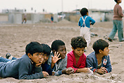 Children  at a shanty town which are called pueblos jovenes on the outskirts of Lima, Peru.