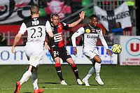 Christophe MANDANNE / Sylvain ARMAND - 12.04.2015 - Rennes / Guingamp - 32eme journee de Ligue 1 <br /> Photo : Vincent Michel / Icon Sport