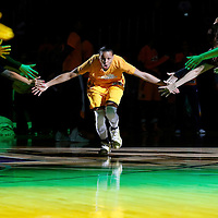 22 June 2014: guard/forward Armintie Herrington (22) of the Los Angeles Sparks is seen during the players introduction prior to the San Antonio Stars 72-69 victory over the Los Angeles Sparks, at the Staples Center, Los Angeles, California, USA.
