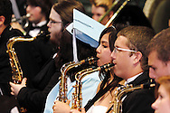 The Symphonic Wind Ensemble performs during the Fairborn High School commencement at the Nutter Center in Fairborn, Friday, May 25, 2012.