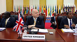 60719345 <br /> British Foreign Secretary William Hague (C) and Tanzanian President Jakaya Kikwete (R) attend the Commonwealth Heads of Government Meeting in Colombo, Sri Lanka, Nov. 15, 2013. Picture by  imago / i-Images<br /> UK ONLY