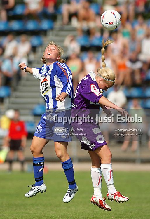 Eveliina Sarap&auml;&auml;, HJK-naiset, vs United, 2005.&amp;#xA;Photo: Jussi Eskola<br />
