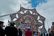 "A giant kite on display for Festival de Barriletes Gigantes ""Festival of the Giant Kites."""