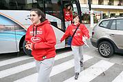 Sara Madera, Raffaella Masciadri<br /> Raduno Nazionale Italiana Femminile Senior - Visita al Sindaco di Montegrotto Terme<br /> FIP 2017<br /> Montegrotto Terme, 27/02/2017<br /> Foto Ciamillo - Castoria