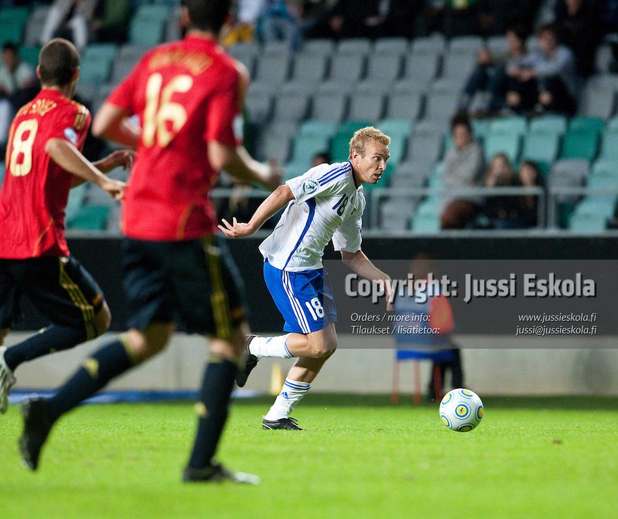 Jussi Vasara. Suomi - Espanja. Alle 21-vuotiaiden EM-turnaus, Gamla Ullevi, Göteborg, Ruotsi 22.6.2009. Photo: Jussi Eskola